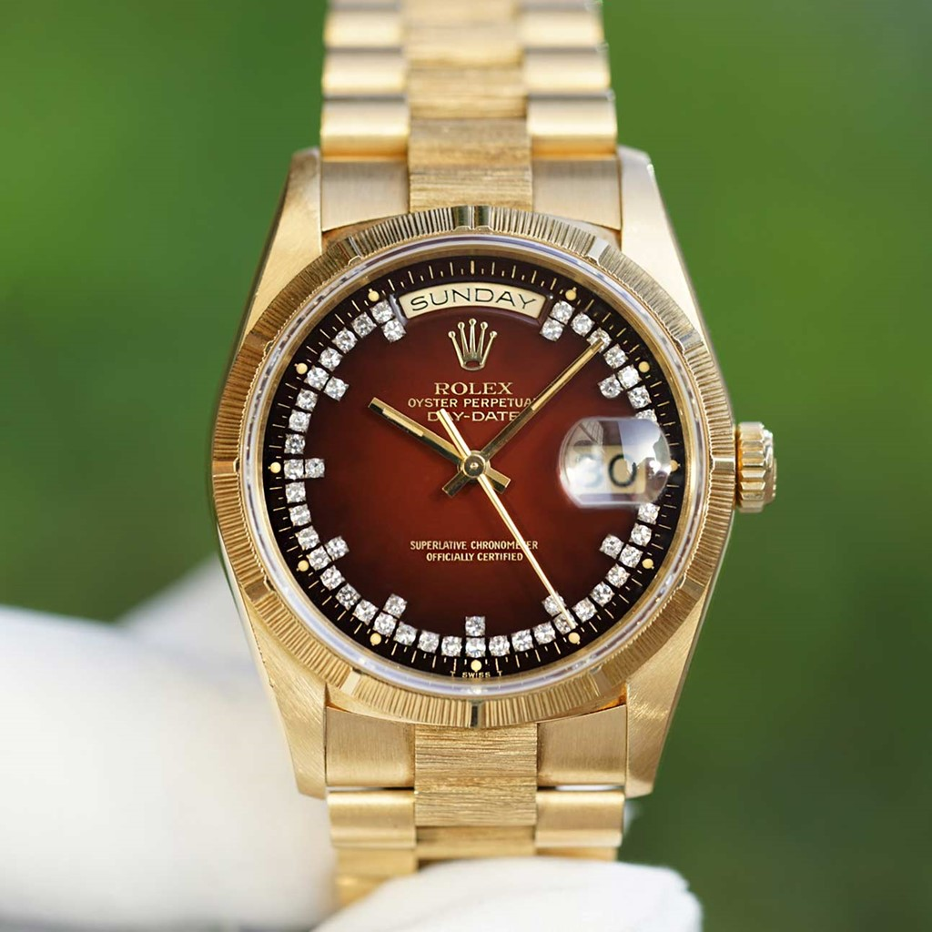 Vintage Rolex Day-Date President 18238 Yellow gold Degrade Dial