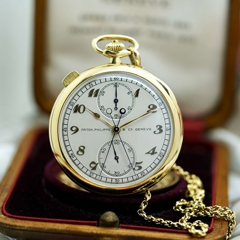 Vintage Patek Philippe Pocket Watch Split-Seconds 759