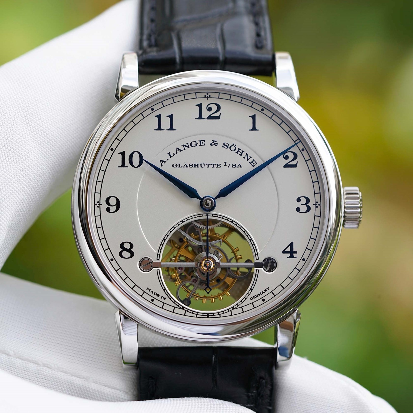 A Lange & Söhne 1815 Tourbillon Platinum Limited Edition of 100