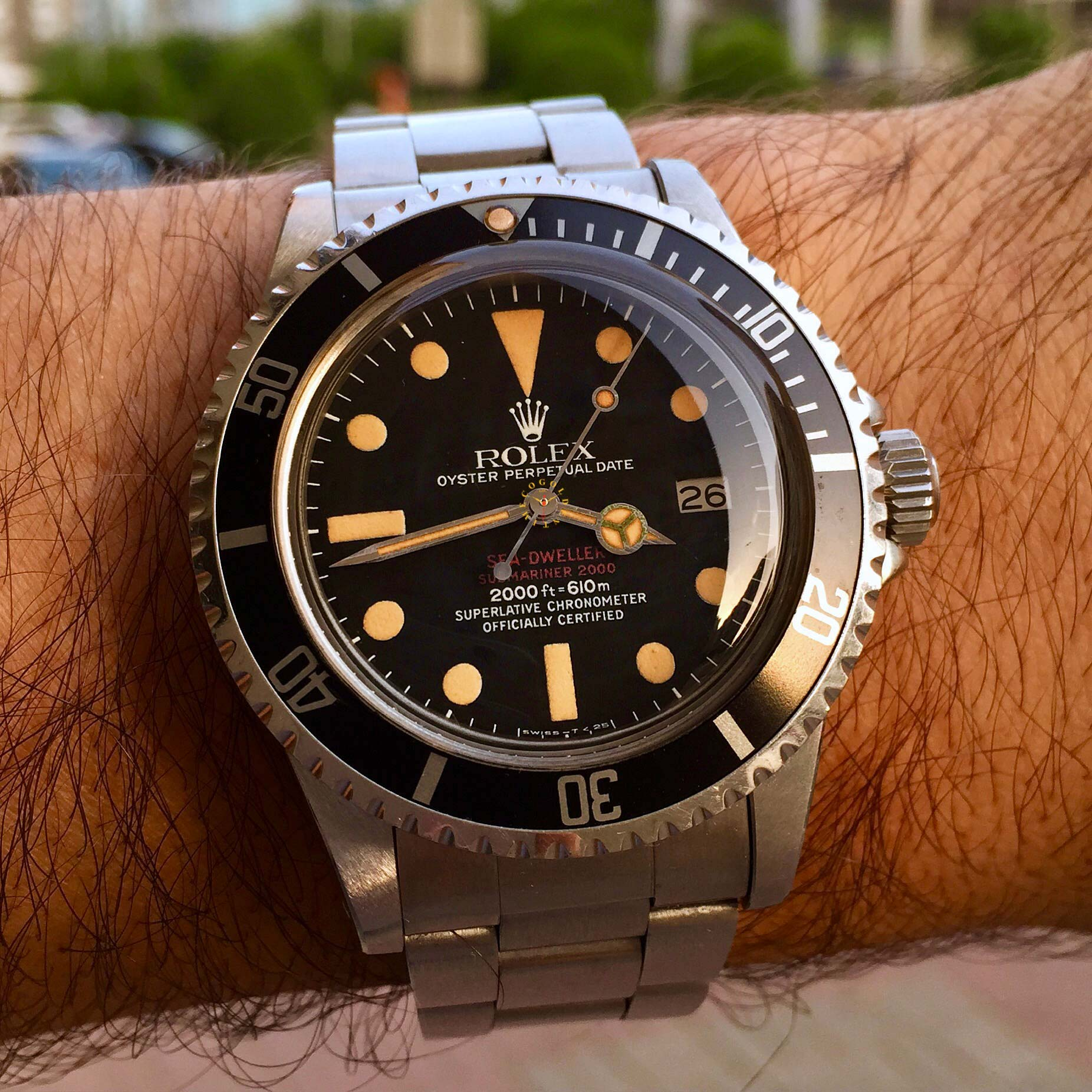 Ultra-Rare Vintage Rolex Sea-dweller Double Red from 1975
