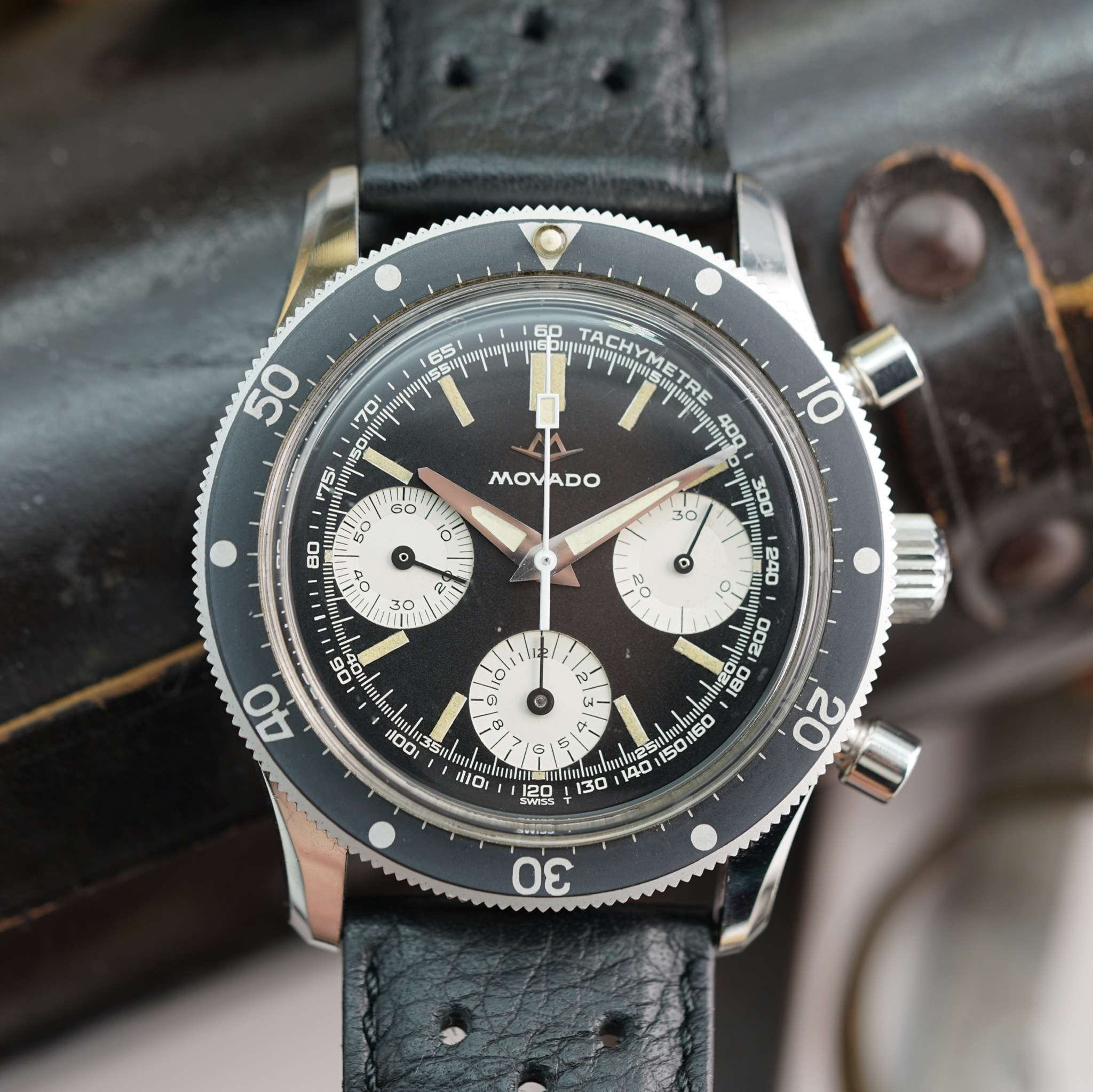 Vintage Movado Chronograph Super Sub Sea